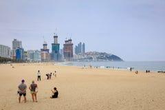21 giugno 2017 spiaggia di Haeundae a Busan, Corea del Sud - spiaggia famosa Fotografie Stock