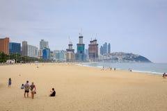 21 giugno 2017 spiaggia di Haeundae a Busan, Corea del Sud - spiaggia famosa Fotografia Stock Libera da Diritti