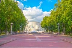 24 giugno 2015: Teatro di opera a Minsk, Bielorussia Fotografia Stock