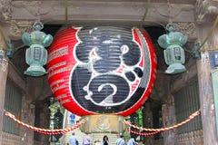 Giugno 2018, tempio buddista di Shinshoji del pallone dell'entrata vecchio, Narita, Giappone immagine stock libera da diritti