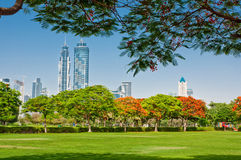 4 GIUGNO: Vista dei grattacieli Fotografia Stock