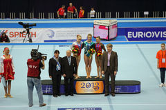 Giulia Steingruber, Larisa Iordache and Noel van K Stock Photos