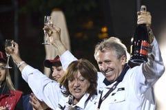 Giuliano Canè Lucia Galliani Mille Miglia. Famous F1 stars in Brescia for the Mille Miglia historical race Stock Photography
