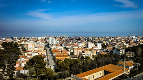 Giulianova сверху стоковые фотографии rf