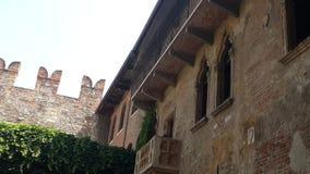Giulietta-Balkon, Verona lizenzfreie stockfotos