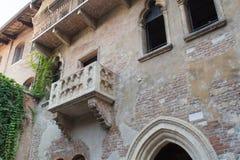 Giulietta& x27; s-balkong Arkivfoton