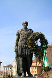 Giulius Caesar. Statue of the most important and powerful emperor of the ancient rome Royalty Free Stock Photos