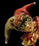 Giullare con la mascherina Fotografia Stock Libera da Diritti