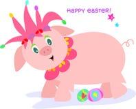 Giullare del maiale di Pasqua Fotografia Stock