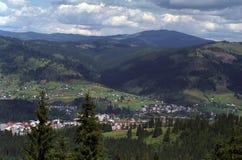 Giumalau Mountains view. From Vatra Dornei area Royalty Free Stock Photos