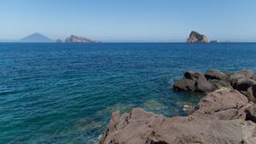 Giumenta eolia del mare delle isole Immagini Stock Libere da Diritti