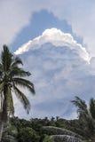 Giungla e nuvole in isola Fotografie Stock Libere da Diritti