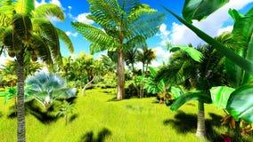 Giungla tropicale durante la rappresentazione di giorno 3d Immagini Stock