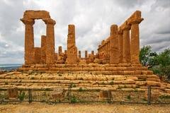 giunone西西里岛寺庙 免版税库存照片