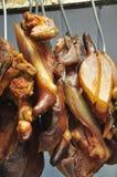 Giunti grassi del porco di carne Fotografie Stock