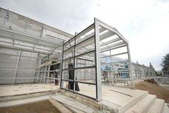 Giunto delle travi di acciaio e subconstruction dell'alluminio Fotografia Stock Libera da Diritti