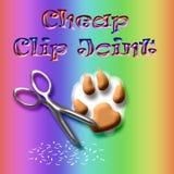 Giunto di clip del cagnolino royalty illustrazione gratis
