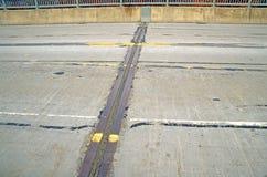 Giunto di dilatazione sul ponte Fotografie Stock