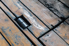Giunto di legno del pavimento Fotografia Stock