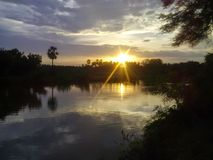 Giunto di Sun e della terra insieme Fotografia Stock Libera da Diritti