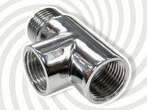 Giunto di tubo a tre vie Fotografia Stock Libera da Diritti