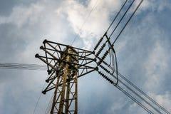 Giunzione ad alta tensione della posta di elettricità Fotografia Stock