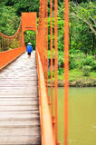 Giunzione arancio della caverna del ponte Fotografia Stock Libera da Diritti