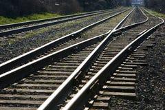 Giunzione della pista del treno Fotografia Stock Libera da Diritti
