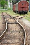 Giunzione ferroviaria Fotografie Stock Libere da Diritti
