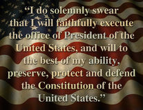 Giuramento inaugurale presidenziale degli Stati Uniti Immagine Stock Libera da Diritti