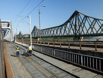 Giurgiu Bridge Royalty Free Stock Photos