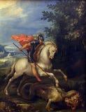 Giuseppe Cesari Cavaliere δ ` Arpino: ST George που σκοτώνει το δράκο Στοκ Εικόνες