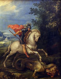 Giuseppe Cesari Cavaliere d`Arpino: St. George slaying the dragon Stock Photo
