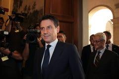 Giuseppe Conte, Italia fotografia stock libera da diritti