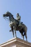 Giuseppe Garibaldi雕象在热那亚广场,意大利 免版税库存照片