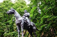 Giuseppe Garibaldi in Bologna Italië stock foto's
