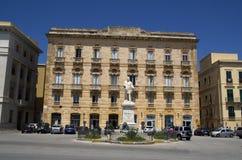 Giuseppe Garibaldi marble statue in Trapani,Sicily, Italy. Royalty Free Stock Image