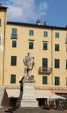 Giuseppe Garibaldi Monument in Lucca Italy royalty free stock images