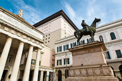 Giuseppe Garibaldi Statue and Opera Theater Royalty Free Stock Photos