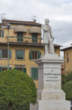 Giuseppe Mazzini statue in Pisa Royalty Free Stock Photography