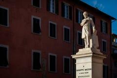 Giuseppe Mazzini statue in Pisa, Tuscany, Italy Stock Images
