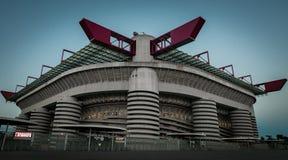 Giuseppe Meazza San Siro Stadium a Milano Fotografie Stock Libere da Diritti