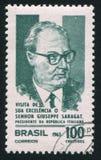 Giuseppe Saragat dell'Italia Fotografia Stock