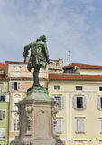 Giuseppe Tartini statue in Piran, Slovenia Stock Photo