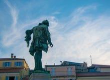 Giuseppe Tartini statue in Tartini square, Piran, Slovenia royalty free stock photo