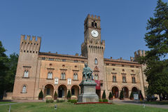 Giuseppe Verdi Square. Busseto, Parma, Italy Royalty Free Stock Photography