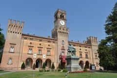 Giuseppe Verdi Square. Busseto, Parma, Italy Royalty Free Stock Images