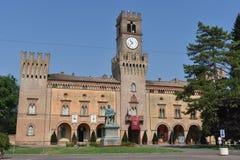 Giuseppe Verdi Square. Busseto, Parma, Italy Stock Photo