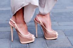 Giuseppe Zanotti Sling Back Heels Imagem de Stock Royalty Free