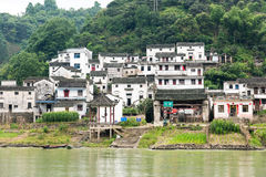 The Giusha village by the Xinan river Royalty Free Stock Photography